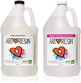 ArtResin - Epoxy Resin - Clear - Non-Toxic - 2 Gal (1 gal Resin + 1 gal Hardener) (7.57 L)