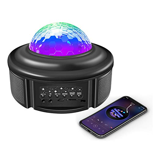 Star Projector Night Light with Bluetooth Speaker, Galaxy Projector...