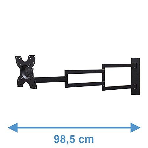 DQ Rotate XL 98,5 cm Schwarz TV Wandhalterung - Empfohlene TV-Größe: 15