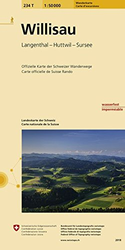 234T Willisau Wanderkarte: Langenthal - Huttwil - Sursee: Langenthal - Huttwil - Sursee / Offizielle Wanderkarte der SAW. / wasserfest (Wanderkarten 1:50 000)