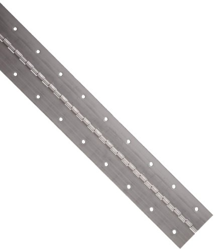 Small Parts Steel Plain Continuous Hinge with Holes, Unfinished, 0.06' Leaf Thickness, 2' Open Width, 1/8' Pin Diameter, 1/2' Knuckle Length, 4' Long (Pack of 1) - 3-0636-0421