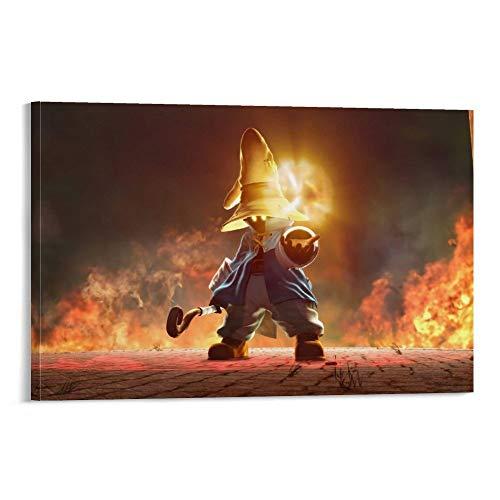 DRAGON VINES Final Fantasy 9 VIVI Ornitier Sorcerer Flame Leinwand Gemälde Poster für College Wohnheim Wanddekoration 20 x 30 cm