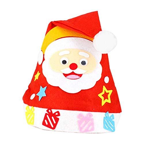 JUECAN DIY Handwerk für Kindergartenkinder handgemachtes Spielzeug für Kinder Weihnachten Hüte Geschenke für Kinder Kunst und Handwerk Bildungs-Spielzeug für Kinder,2