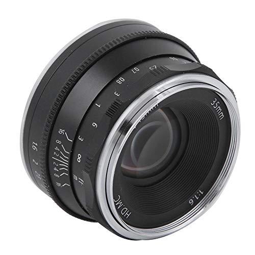 CC-Mil3516N Obiettivo per fotocamera mirrorless, metallo 35mm F1.6 Apertura di messa a fuoco manuale Pellicola per rivestimento Obiettivo con attacco