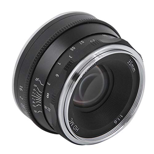 35 mm f1.6 Fixed Focus High Definition spiegelloze cameralens voor Nikon Z6 Z7 Z50, handmatige scherpstelling, half frame lens, hoogwaardig metaal en optisch glasmateriaal(zwart)