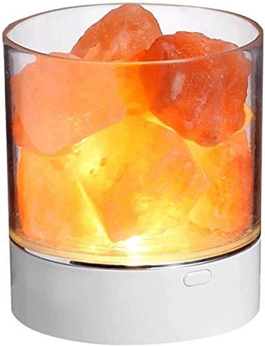 NA Gel Nail Lámpara de Sal, lámpara de Sal del Himalaya, Cristal Natural de Roca, pequeña Piedra iónica, luz de Noche, lámparas de Sal para el hogar