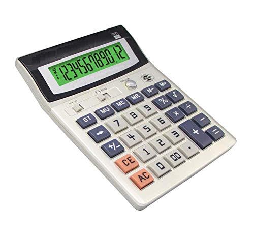 LUULDP-Taschenrechner Taschenrechner LED-Leuchtanzeige Office Desktop Falschlicht-Taschenrechner 12-stellige Anzeige Office Bank Financial Spezial-Taschenrechner (Silbergrau) Rechner