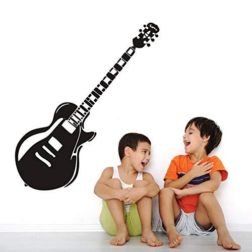 Tianpengyuanshuai vintage e-gitaar muziek vinyl muursticker kinderkamer kunststicker afneembaar 45X63 cm