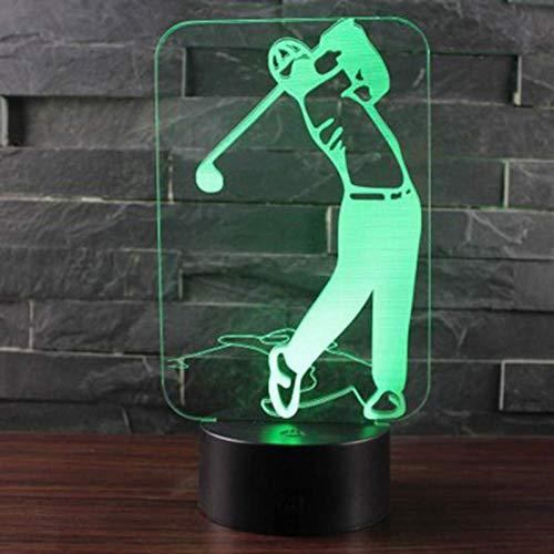 Nachtlicht Golf Thema 3D Lampe Led Nachtlicht 7 Farbwechsel Touch Stimmung Lampe Weihnachtsgeschenk