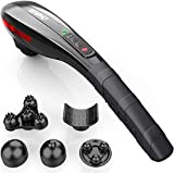 RENPHO Cordless Handheld Back Massager, Rechargeable Electric Deep Tissue Percussion Muscle Massager for Neck Shoulder Leg Foot Joint Pain Relief, Portable Vibrating Massager for Full Body Home Office