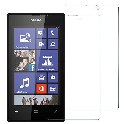 Mopiss Pack di 2Pellicola di Protezione in Vetro temprato per Nokia Lumia 520