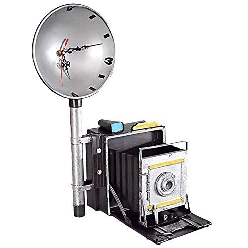 LUCKFY Retro Modelo de cámara fotográfica - Retro de la cámara de colección de Metal Antiguo con el Flash Modelo - fotógrafo Regalo - Regalo para la cámara del colector