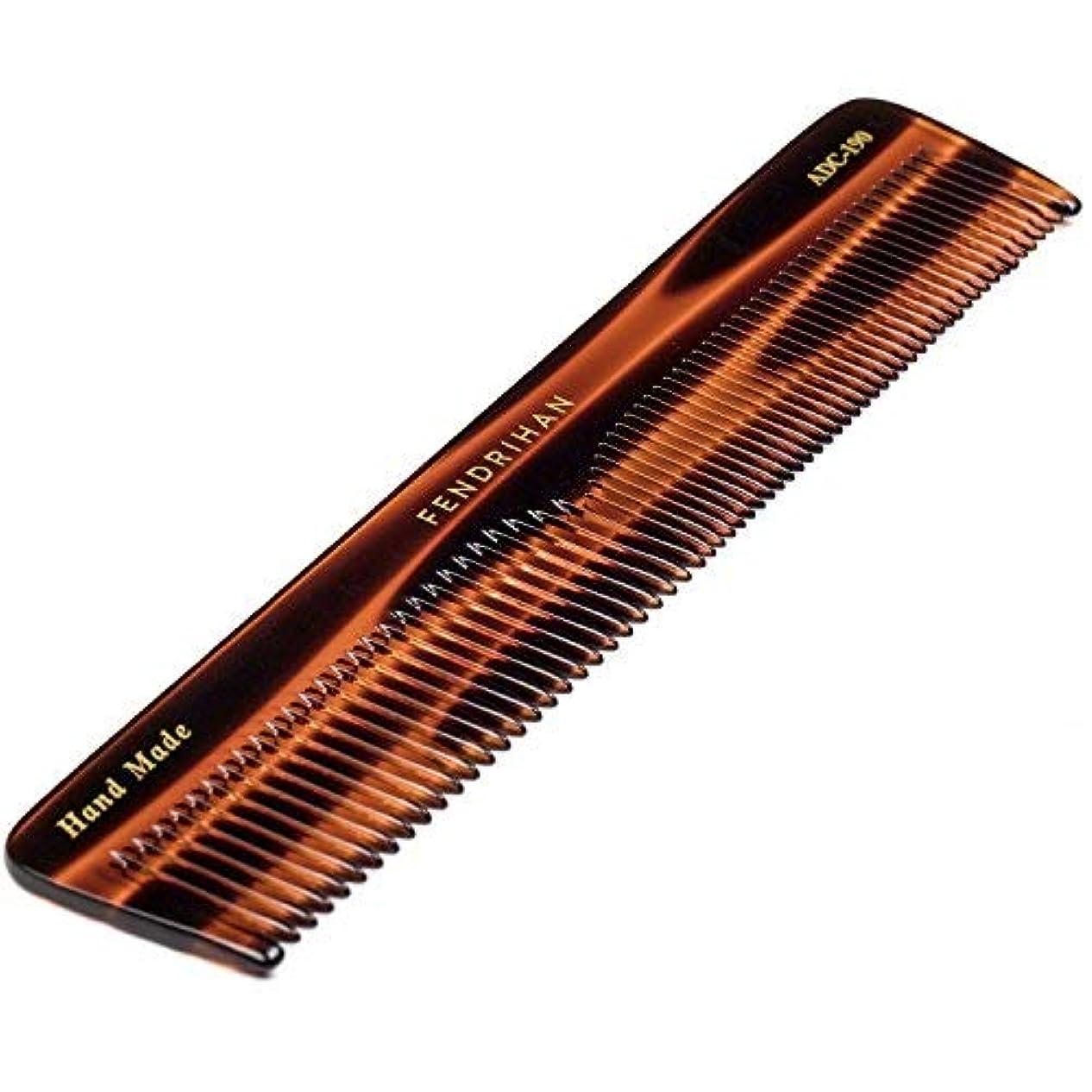 大量オズワルド積分Fendrihan Hand Finished Large Double Tooth Comb for Men, Faux Tortoise (7.3 Inches) [並行輸入品]