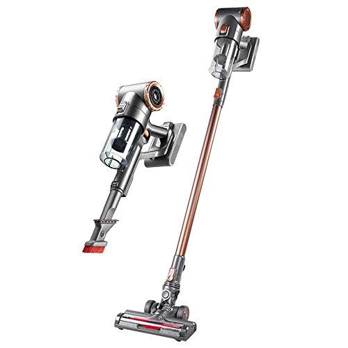 Limpiador de vacío para el hogar Aspirador inalámbrico, mano liviana inalámbrica 2 en 1,200W Alta potencia, batería de litio recargable de 2000mAh, para alfombra de piso, cabello para mascotas, limpie