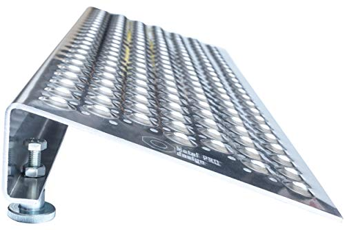Adjustable ramp for Scooters, wheelchairs and trolleys, Height from 8 to 14 cm. Aluminum