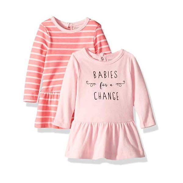 Hanes Baby Flexy 2 Pack Knit Long Sleeve Tunics