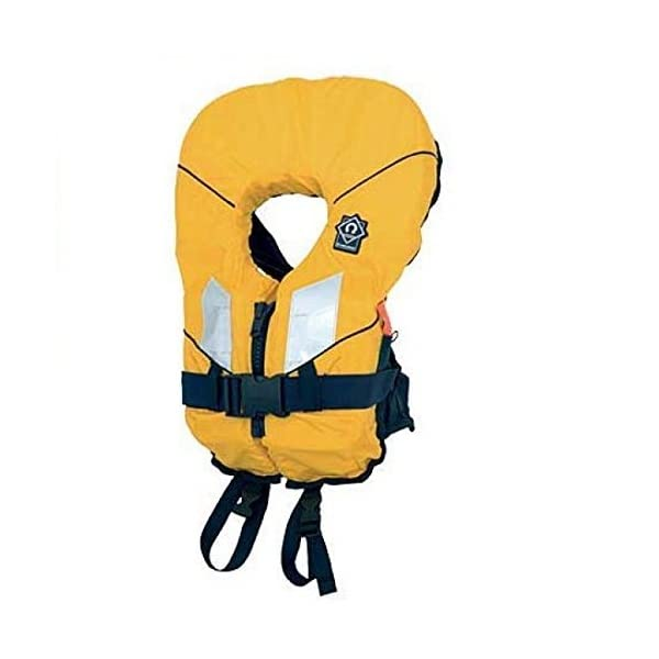 Crewsaver Boating and Sailing - Kids Youth Junior Spiral 100N Life Jacket Coat In Yellow Navy Child & Baby - Unisex