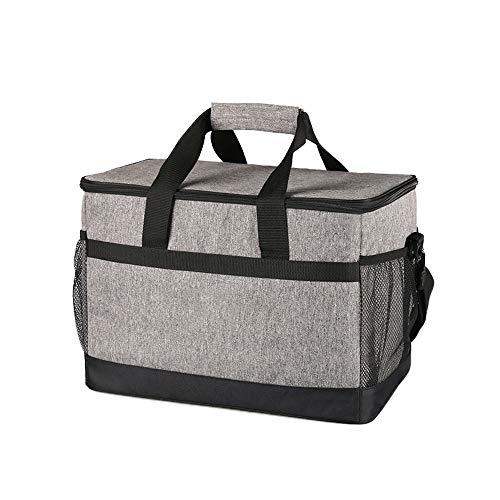 Mettime Bolsa térmica para almuerzo, picnic, 33 l, gran capacidad, cuadrada, bolsa térmica para el frigorífico del coche, lámina de aluminio, bolsas térmicas
