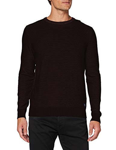 TOM TAILOR Herren Modern Basic Struktur Sweatshirt, 11333-Dusty Wildberry Red, XXL