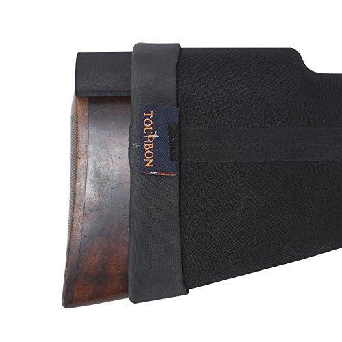 TOURBON Neoprene Adjustable Gun Stock Cheek Rest Pad Comb Raising Kit - Black