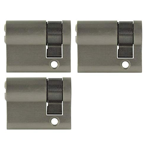 3x Halbzylinder 40 mm gleichschließend 30/10 inkl. 10 Schlüssel