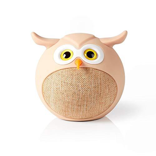 NEDIS Altoparlante Bluetooth   Tempo di Riproduzione della Batteria: Fino a 3 Ore   Design Portatile   9 W   Mono   Microfono Incorporato   collegabile   Animaticks Olly Owl   Beige Beige