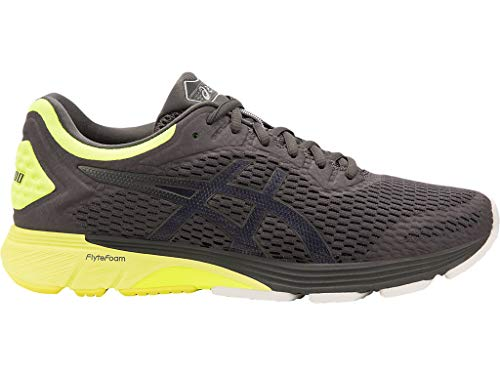 ASICS Men's GT-4000 Running Shoes, 12.5M, Dark Grey/Safety Yellow