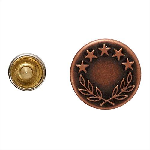 KIYOHARA サンコッコー ジーンズタックボタン 6組 16.5mm オリーブ SUN15-03