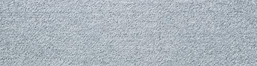 Salonloewe Efia Fußmatte Wohnmatte Minimatte einfarbig waschbar (Silbergrau, 30x100cm (Rand eckig))