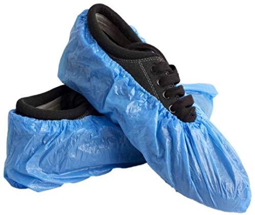 LY88 Blauw 100 stks Thuis Wegwerp Schoen & Boot Covers, Anti-lip, Duurzaam voor op de werkplek Medische, Auto of Indoor & Outdoor Reizen of Auto Tapijt Vloerbescherming