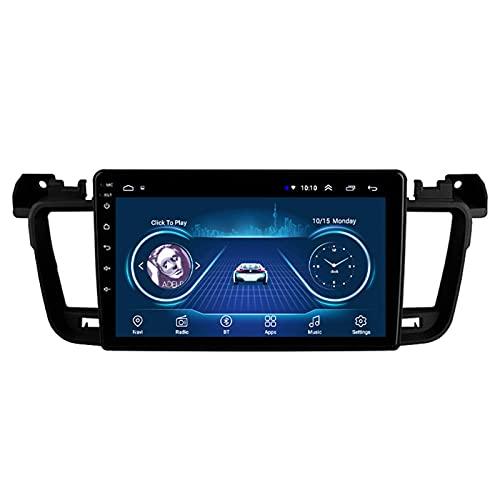 Android 9.1 coche estéreo navegación dispositivos para Peugeot 508 2011-2018, pantalla táctil de 9 pulgadas reproductor multimedia de coche soporte Bluetooth audio y llamadas, wifi, 4G+64G-Eight-core