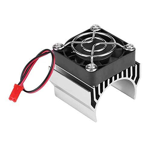 XLKJ Disipador de Calor del Motor con Ventilador, Disipador de Calor de Enfriamiento de 5V para 1/10 RC Coche 540 550 3650 Tamano Motor Plateado