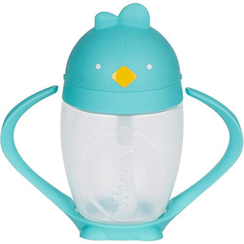 Lollaland Weighted Straw Sippy Cup for Baby: Lollacup - Transition Kids, Infant & Toddler Sippy Cup (6 months - 9 months) | Shark Tank Products | Lollacup (Turquoise)