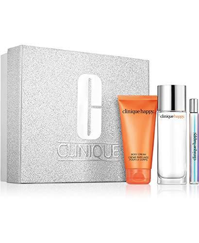 Clinique Perfectly Happy Set Happy Perfume Spray, Happy Body Cream,happy Perfume Rollerball