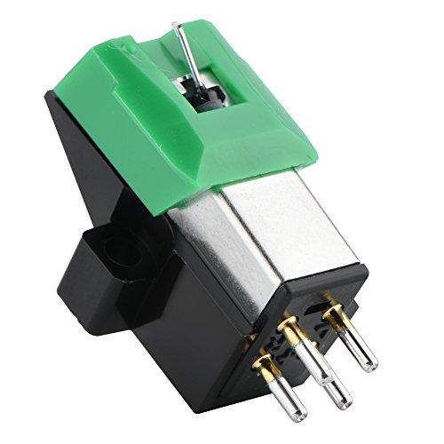 ASHATA universele platenspeler Vervangende stylusnaalden, vervangende stylus Platenspelernaald, platenspelernaald 3 snelheden 13 mm pitch recordcartridge Hoogwaardige vinylnaald voor AT95E
