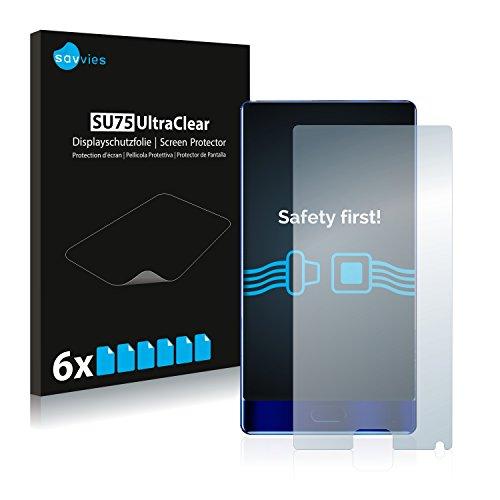 Savvies 6X Schutzfolie kompatibel mit Doogee Mix Bildschirmschutz-Folie Ultra-transparent