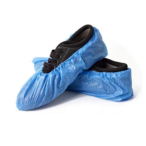 Tegcare - Copriscarpe in PE, Blu, 100 Pezzi