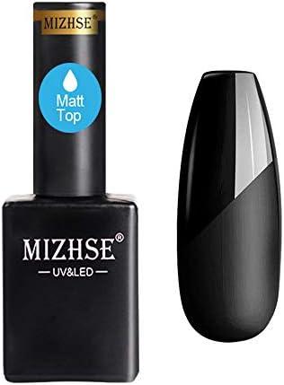 MIZHSE Matte Top Coat Matte Nail Polish No Wipe Top Gel Coat Soak Off LED Lamp Gel 15ml product image