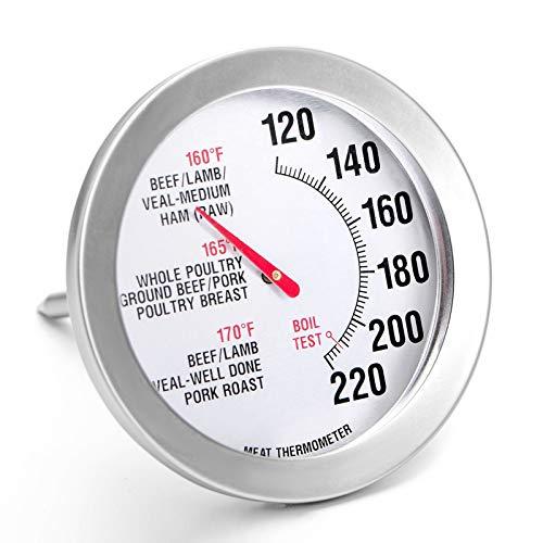 Termómetro de barbacoa para carne y comida, termómetro para parrilla y cocina, lectura instantánea rápida e impermeable, termómetro digital de cocina para parrilla, barbacoa, hornear, dulces, líq
