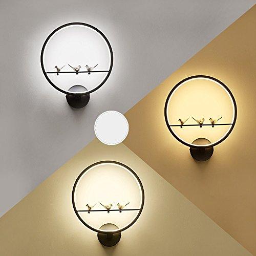 Creative Led moderne minimaliste mur de chevet chambre à coucher Lampe lumière escalier Couloir Couloir Art,lampe Couleur B 35 * 30cm,19 Watts cartouche 3 couleurs gradateur de lumière