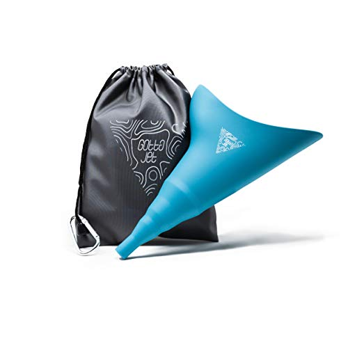 gotta jet Female Urinal -Female Urination Device to Pee Standing Up. Pee Funnel for Women to use as a Portable Toilet for Camping, Hiking, Road Trip, Travel, Post Surgery Recovery Gifts for Women