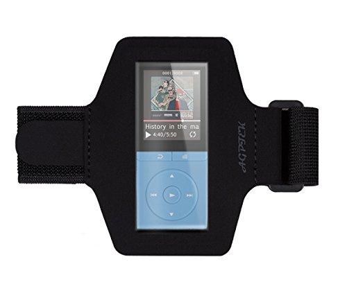 AGPTek Lycra Small Armband Hülle Case für AGPTek 70 Stunden A02 MP3 Player, mit veränderbarer Länge, Safey Design, geeignet für Bewegung, Gymnastik, Jogging, Workout, Rad Fahren, Schwarz