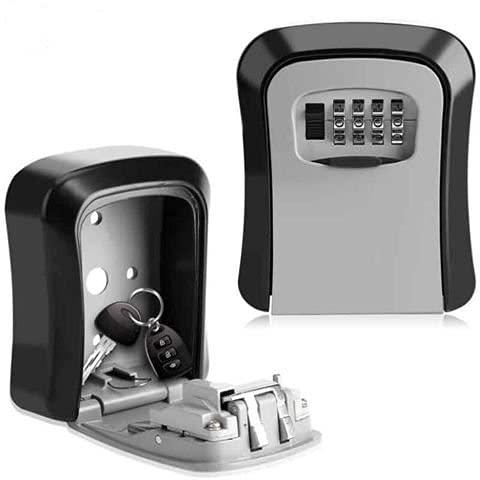 Nuvii NV-OS5402 - Caja fuerte para llaves (acero de alta calidad, extradurada), color negro