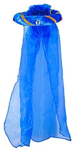 Mittelalter Haarband Rosalin für Mädchen zum Prinzessin oder Burgfräulein Kostüm - Blau