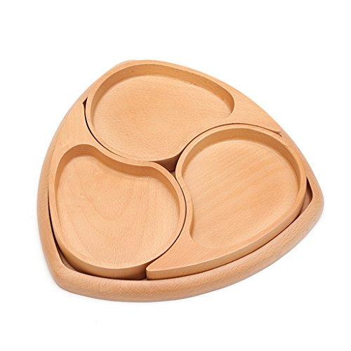 NYDZDM Ensembles de paniers de fruits en bois avec couvercle, bol à salade Premium Housewares, boîte de rangement pour desserts de bonbons multifonctions Snack Bargot, 28 * 27.5 * 3.6cm