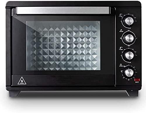 Mini horno de pizza 38L, material de acero inoxidable es puro negro, temperatura ajustable 60-250 ° tiempo de 120 minutos, para el hogar al aire libre Mini horno