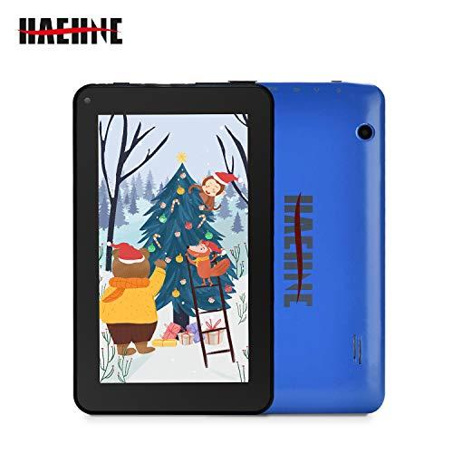 Haehne 7 Inch Tablet PC - Google Android 9.0 Pie, Quad Core, 1G RAM 16GB ROM, 1024 x 600 IPS HD Display, 2.0MP 0.3MP Dual Camera, 2800mAh, WiFi, Bluetooth (Blue)