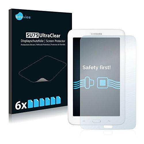 Savvies 6X Schutzfolie kompatibel mit Samsung Galaxy Tab 3 (7.0) Lite SM-T110 Bildschirmschutz-Folie Ultra-transparent