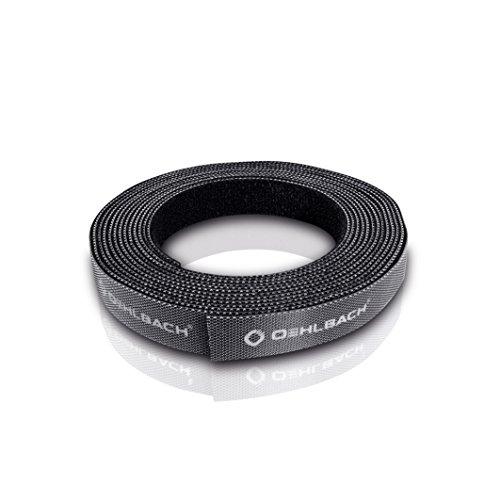 Oehlbach 5006Hook y Loop Cable wiederverschließbares Velcro Banda 2m Negro