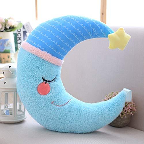 Poupée en Peluche Coussin Lune Etoile Jouet Peluche Enfant Cadeaux Offert Peluche Bebe Decor Chambre denfant Lune Jaune 40 * 15cm